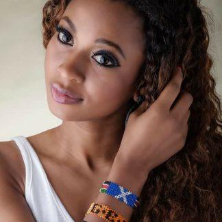 Sheri Yat modelling our bracelets